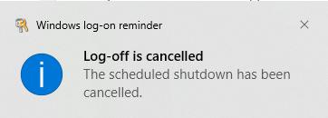 shutdown reminder 2