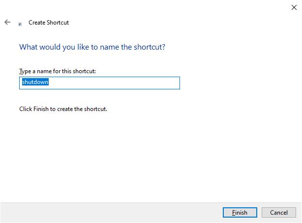 shutdown shortcut