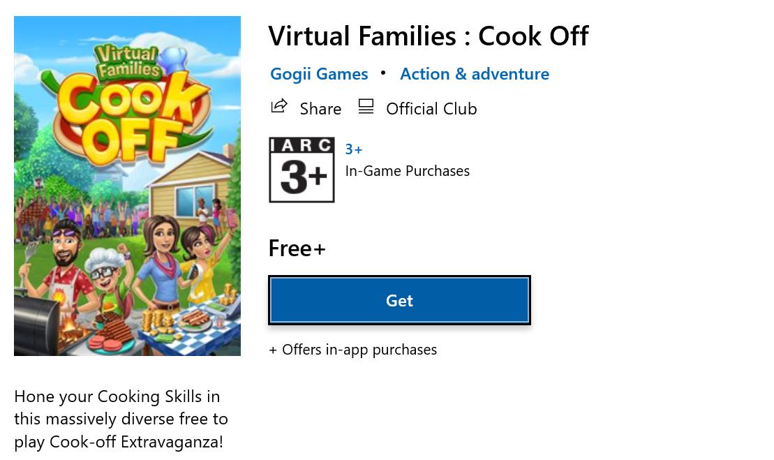 เกมทำอาหาร Virtual Families