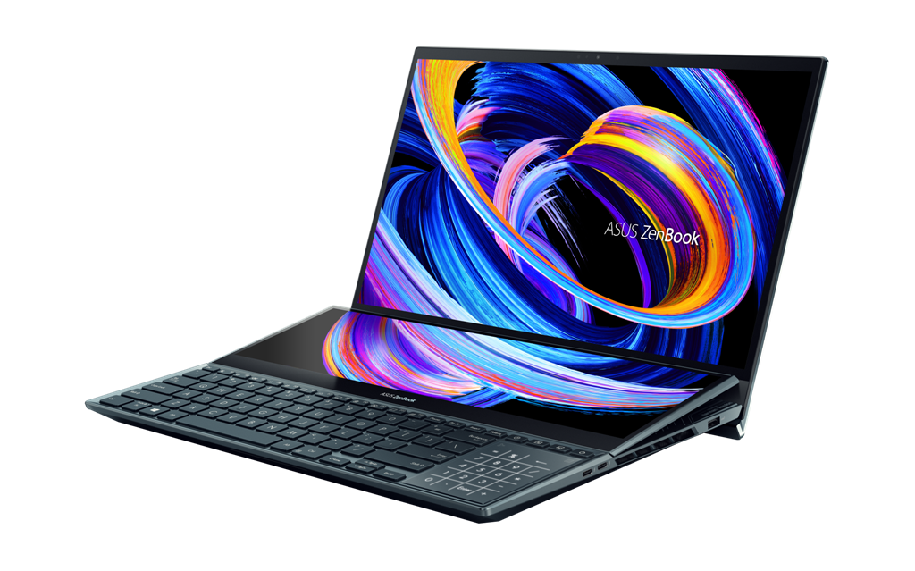 ZenBook Pro Duo 15 OLED UX582 Product photo 1A Celestial Blue 08 3 1
