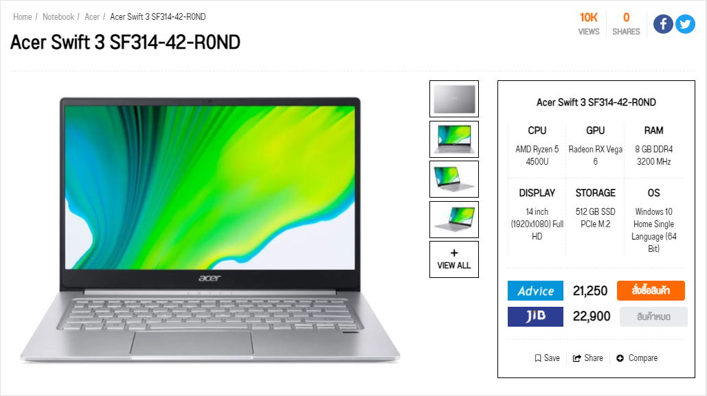 acer swift 3 sf314 amd