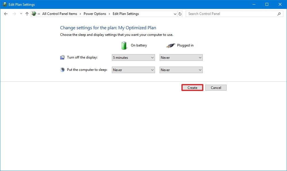 edit plan settings windows103