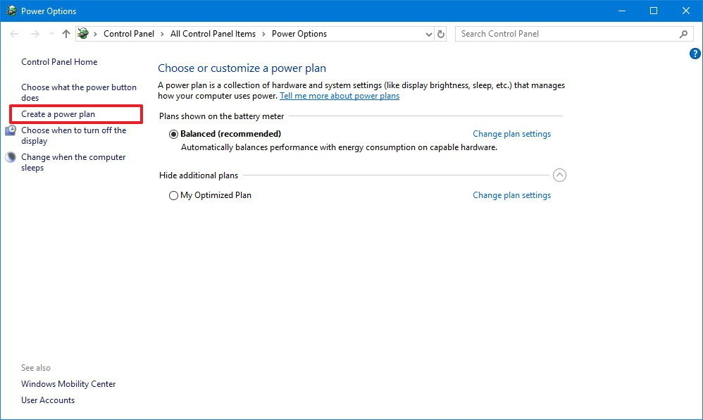 windows10 create power plan1