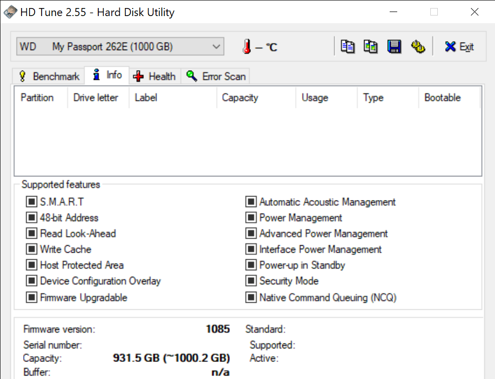 HD Tune 2.55 Hard Disk Utility 2 11 2021 3 21 55 PM
