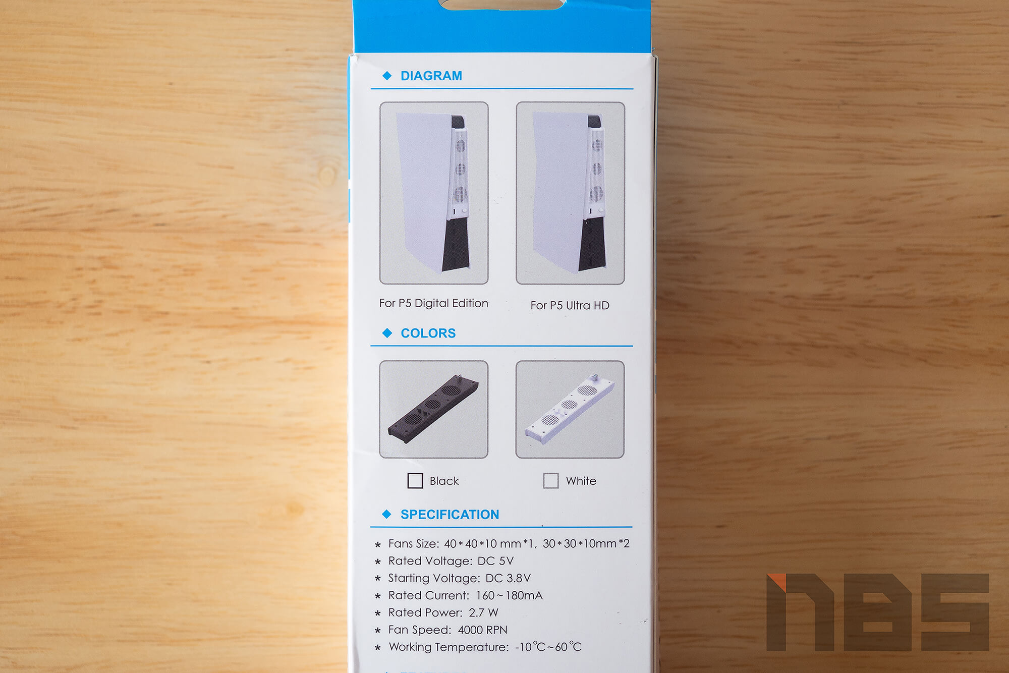 Review PS5 Fan NotebookSPEC 09
