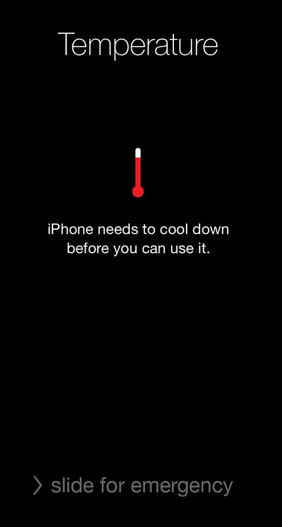 ปัญหาไอโฟนเครื่องร้อน