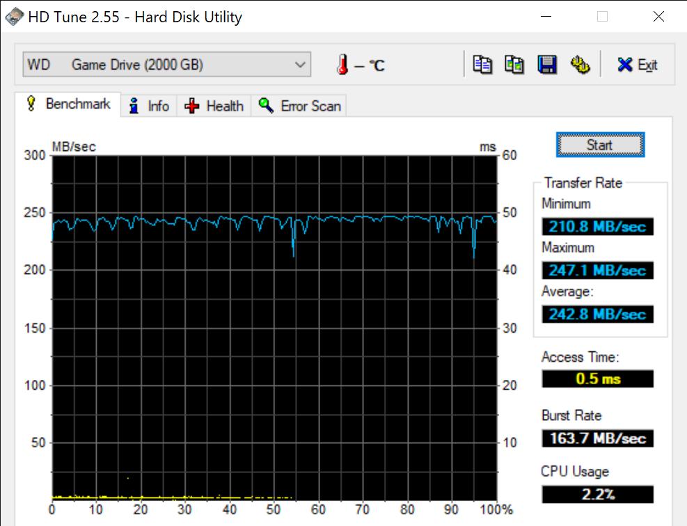 HD Tune 2.55 Hard Disk Utility 3 8 2021 12 06 44 PM