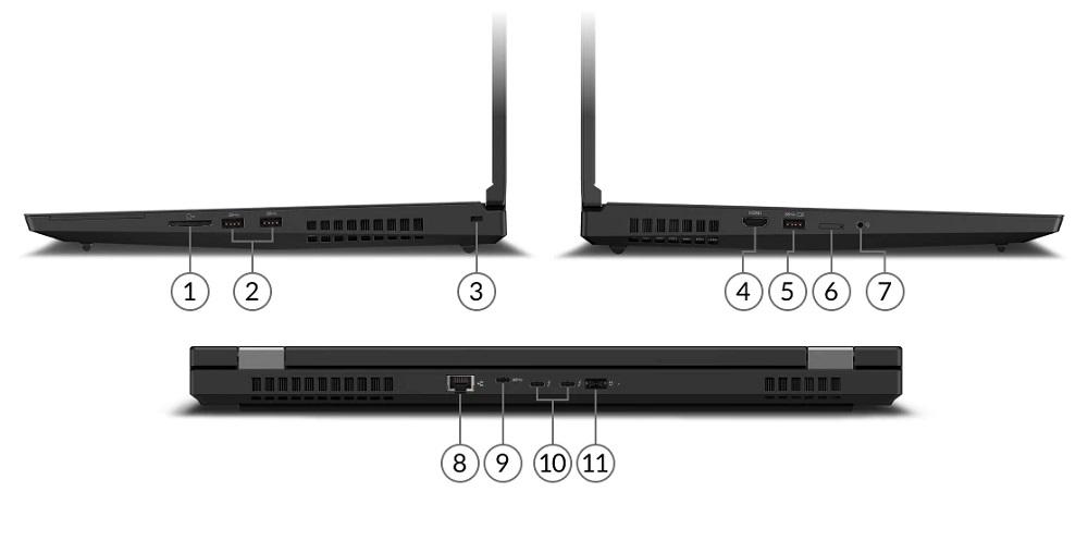 lenovo laptop workstation thinkpad p17 17 subseries ports