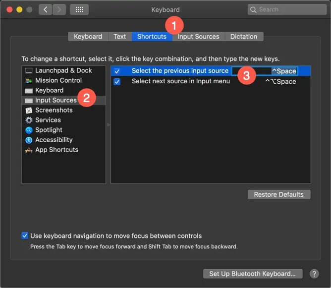 View or Set Keyboard Shortcuts