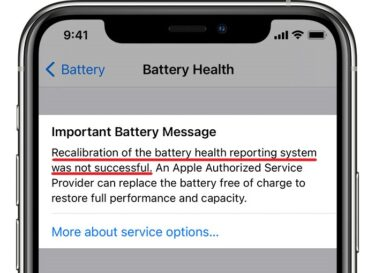 ios14 iphone11 pro settings battery battery health recalibration not successful crop