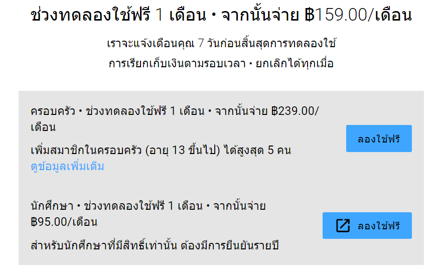 YouTube Premium ราคาถูก