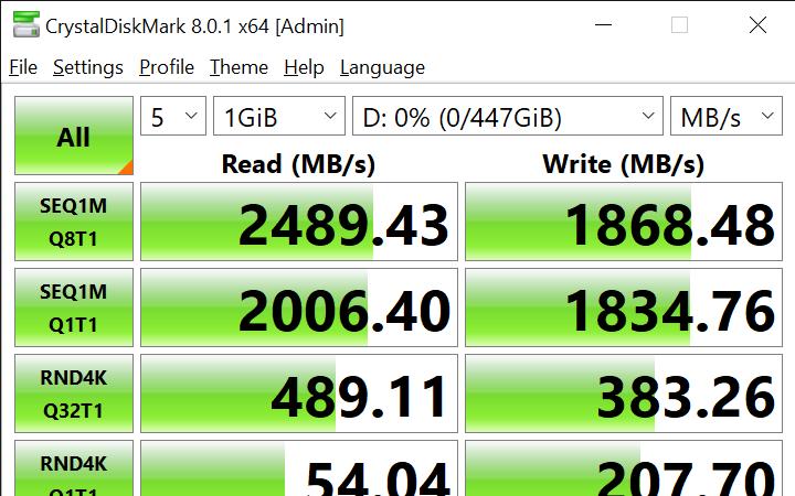 CrystalDiskMark 8.0.1 x64 Admin 6 28 2021 10 58 39 AM