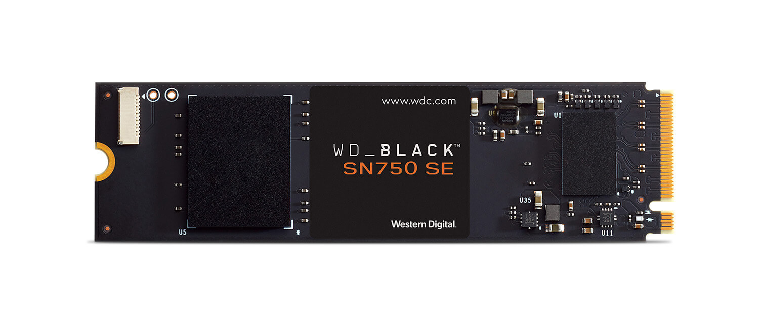 Product front WD BLACK SN750 NVMe SSD LR 1