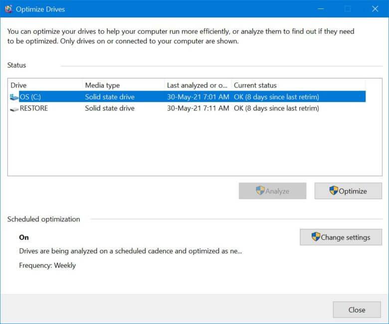 Windows10 Optimize 2021