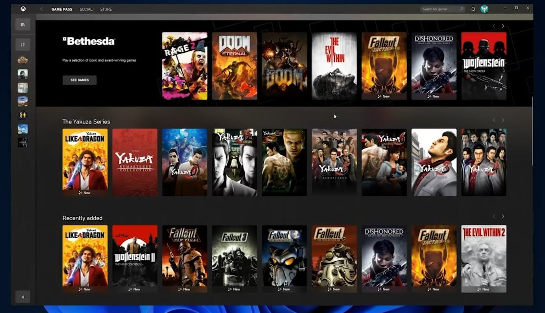 xbox game pass store integrated