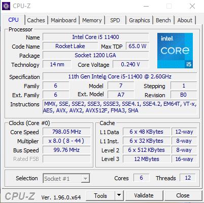 CPU Z 3