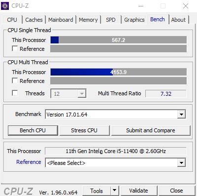 CPU Z Bench 1