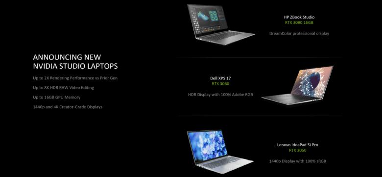 geforce rtx laptops 2021 new studio laptops