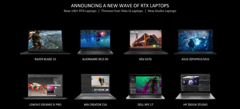 geforce rtx laptops 2021 over 140 rtx laptops