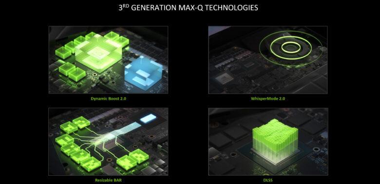 geforce rtx laptops 2021 third gen max q technologies