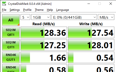 CrystalDiskMark 8.0.4 x64 Admin 9 3 2021 1 58 42 PM