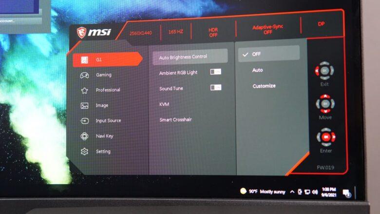 MSI MPG ARTYMIS 323CRQ OSD 4