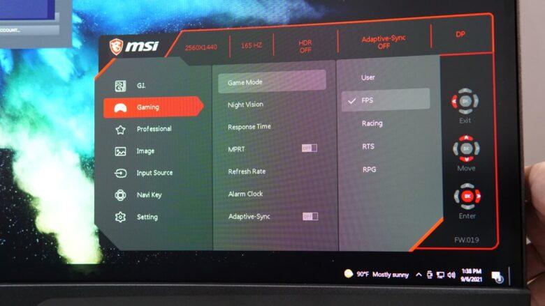 MSI MPG ARTYMIS 323CRQ OSD 6