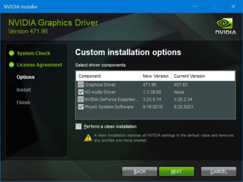 ไดรเวอร์ NVIDIA