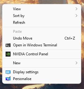 r click show more option