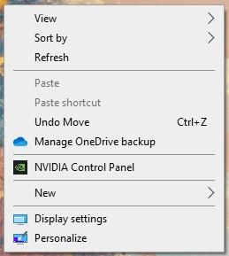 r click windows 10